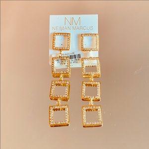 ✨🌟Geometric Longline Rhinestone Earrings ✨